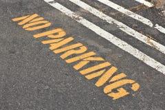 nie parkować Zdjęcie Royalty Free