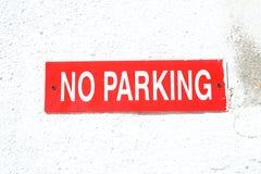 nie parkować Obraz Royalty Free