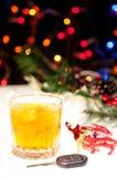 Nie pije i jedzie podczas świątecznego sezonu Obrazy Royalty Free