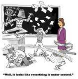 Nie Pod kontrola royalty ilustracja