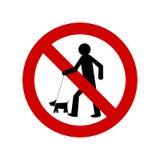 nie pozwoliła zwierzętom domowym znaku Obrazy Royalty Free