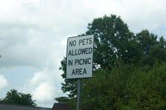nie pozwoliła zwierzętom domowym znaku Zdjęcia Royalty Free