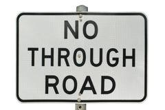 Nie przez drogowego znaka - Obrazy Stock