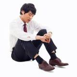 Fail Azjatycki biznesowy mężczyzna Obrazy Stock