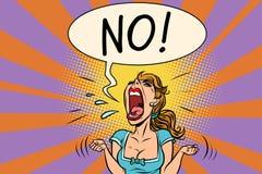 Nie wściekła krzycząca kobieta Zdjęcia Royalty Free