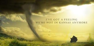 Nie w Kansas już nie z tekstem Zdjęcia Royalty Free