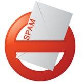 nie więcej spam Fotografia Royalty Free