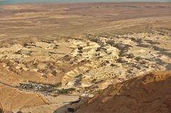 Nieżywego morza pustynia Obraz Royalty Free