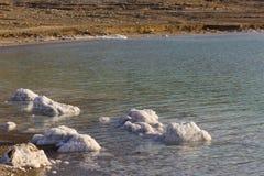 Nieżywego morza soli depozytów kamienie Zdjęcia Stock