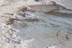 Nieżywego morza soli depozytów kamienie Obraz Royalty Free