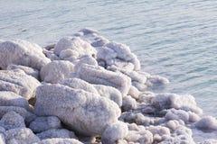 Nieżywego morza soli depozytów kamienie Zdjęcie Stock