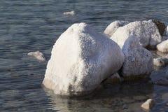 Nieżywego morza soli depozytów kamienie Obrazy Stock