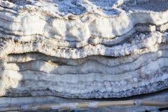 Nieżywego morza soli depozytów kamienie Zdjęcie Royalty Free