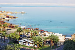 NIEŻYWY morze IZRAEL, PAŹDZIERNIK, - 29, 2014: Wysoki veiw Dea Se Zdjęcia Stock