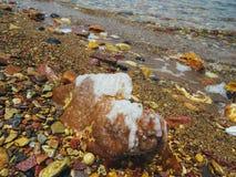 Nieżywy morze w Jordania Zdjęcia Stock