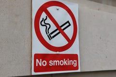 nieżywy palenie zabronione Fotografia Stock