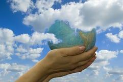nie - ziemska globus Obrazy Stock