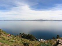 nieb jeziora titicaca Obraz Stock