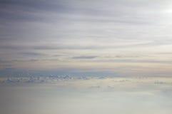 Nieba światło na samolocie Zdjęcia Royalty Free