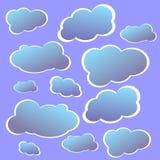 Nieba błękit chmurnieje wektor Obrazy Royalty Free