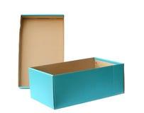 Nieba błękit przetwarza papierowego pudełko, ścinek ścieżka Fotografia Royalty Free