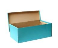 Nieba błękit przetwarza papierowego pudełko, ścinek ścieżka Zdjęcie Stock