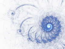 Nieba błękita fractal spirala Obrazy Stock