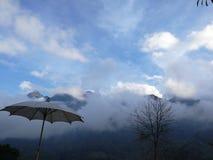 Nieba clound mgła Obrazy Royalty Free