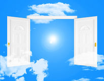 Nieba drzwi Pokazuje drzwi wieczność I drzwi ilustracja wektor
