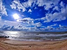 Nieba hdr plaża Fotografia Royalty Free