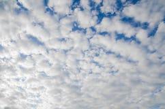 Nieba i chmury głąbika tło Fotografia Stock