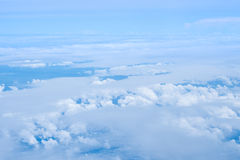 Nieba i chmury widok od samolotu Fotografia Royalty Free