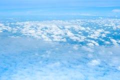 Nieba i chmury widok od samolotu Fotografia Stock