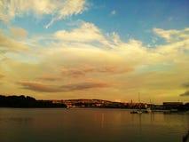 Nieba i rzeka zdjęcia royalty free