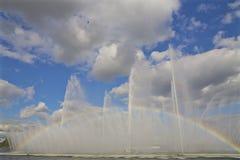Nieba i wody tęcza Zdjęcia Royalty Free