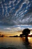 nieba portu morskiego słońca Obraz Royalty Free