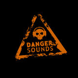 niebezpieczeństwa dźwięka znaczek Zdjęcie Royalty Free