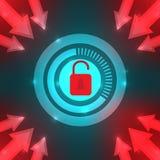 Niebezpieczeństwa Komputerowy wirus i hackery ilustracji