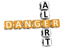 Niebezpieczeństwa Raźny Crossword Zdjęcia Stock