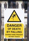 niebezpieczeństwo śmierć Obraz Royalty Free