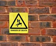 Niebezpieczeństwo Śmiertelny Znak ostrzegawczy Fotografia Royalty Free