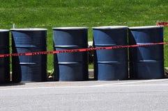 Niebezpieczeństwo 55 galonów bębeny zdjęcia royalty free