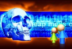 niebezpieczeństwo internetu Zdjęcia Royalty Free