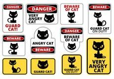 Niebezpieczeństwo kot Fotografia Royalty Free