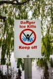 Niebezpieczeństwo lodu zwłok utrzymanie z znaka obraz royalty free