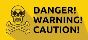 Niebezpieczeństwo ostrzega ostrożność znaka Zdjęcie Stock
