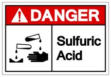 Niebezpiecze?stwo Sulfuric kwasu symbolu znak, Wektorowa ilustracja, Odizolowywa Na Bia?ej t?o etykietce EPS10 royalty ilustracja
