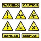 niebezpieczeństwo sygnały Zdjęcie Royalty Free