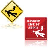 Niebezpieczeństwo szok ilustracja wektor
