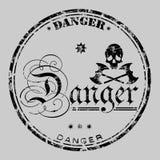 niebezpieczeństwo znaczek royalty ilustracja